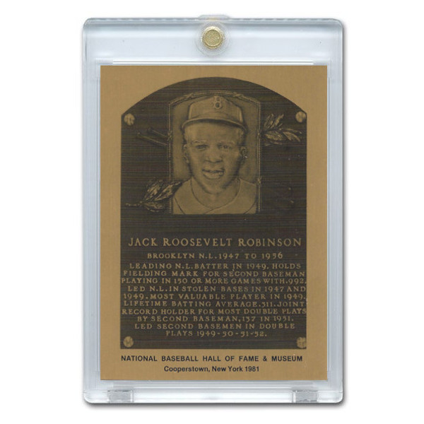 Jackie Robinson 1981 Hall of Fame Metallic Plaque Card