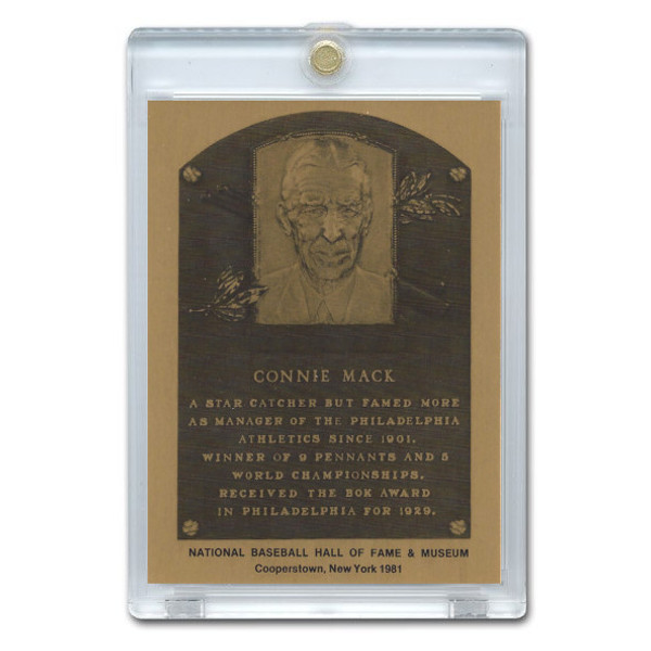 Connie Mack 1981 Hall of Fame Metallic Plaque Card