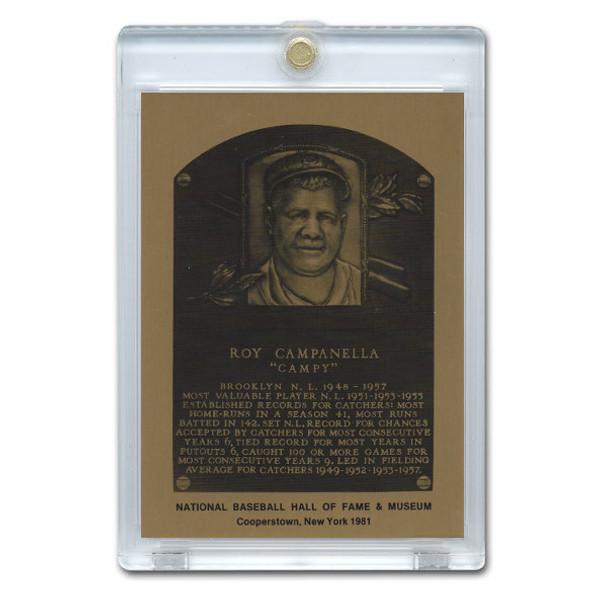 Roy Campanella 1981 Hall of Fame Metallic Plaque Card
