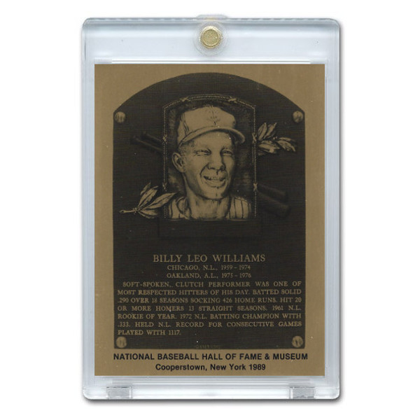 Billy Williams 1989 Hall of Fame Metallic Plaque Card