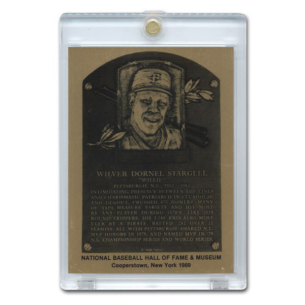 Willie Stargell 1989 Hall of Fame Metallic Plaque Card