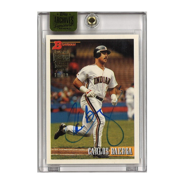 Carlos Baerga Autographed Card 2016 Topps Archives Bowman Buyback Lt Ed of 33