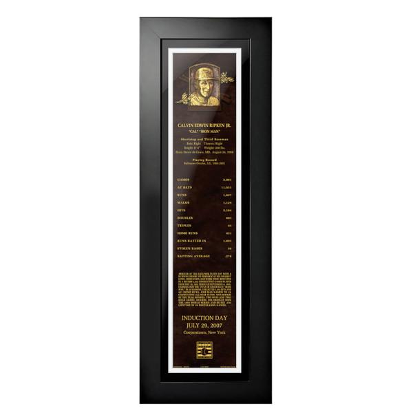 Cal Ripken Jr. Baseball Hall of Fame 24 x 8 Framed Plaque Art