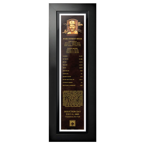 Wade Boggs Baseball Hall of Fame 24 x 8 Framed Plaque Art