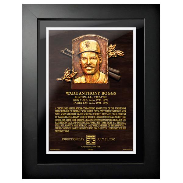 Wade Boggs Baseball Hall of Fame 18 x 14 Framed Plaque Art