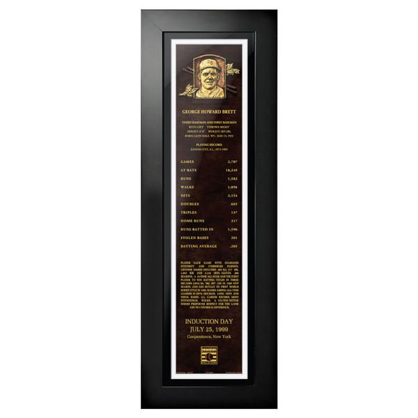 George Brett Baseball Hall of Fame 24 x 8 Framed Plaque Art