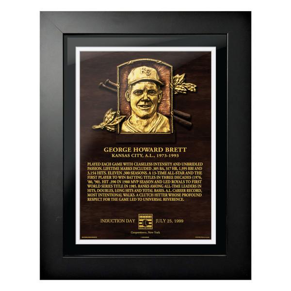 George Brett Baseball Hall of Fame 18 x 14 Framed Plaque Art