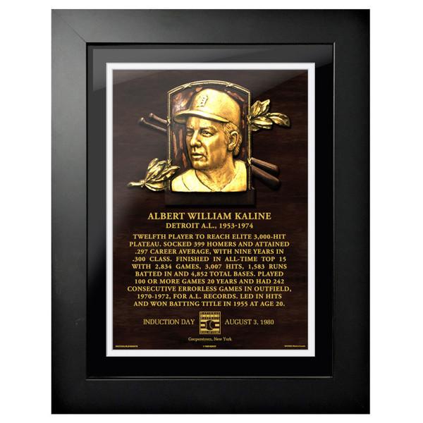 Al Kaline Baseball Hall of Fame 18 x 14 Framed Plaque Art