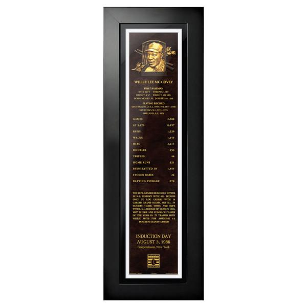 Willie McCovey Baseball Hall of Fame 24 x 8 Framed Plaque Art