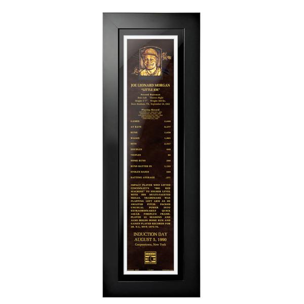 Joe Morgan Baseball Hall of Fame 24 x 8 Framed Plaque Art