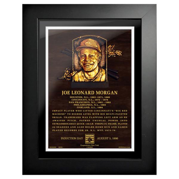 Joe Morgan Baseball Hall of Fame 18 x 14 Framed Plaque Art