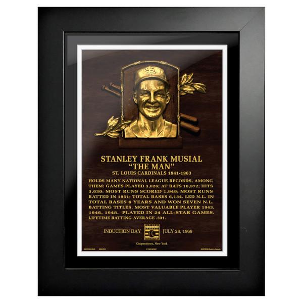 Stan Musial Baseball Hall of Fame 18 x 14 Framed Plaque Art