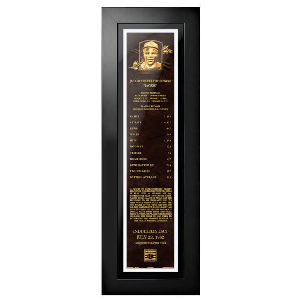 Jackie Robinson Baseball Hall of Fame 24 x 8 Framed Plaque Art