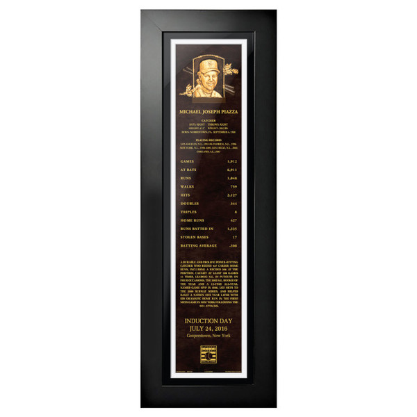 Mike Piazza Baseball Hall of Fame 24 x 8 Framed Plaque Art