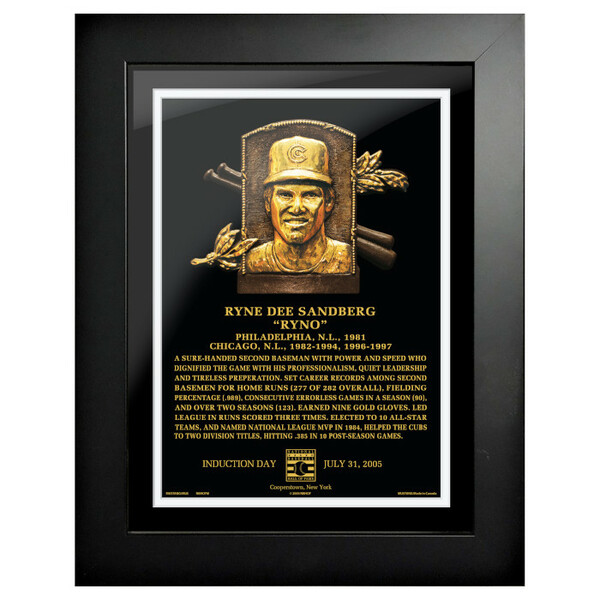 Ryne Sandberg Baseball Hall of Fame 18 x 14 Framed Plaque Art