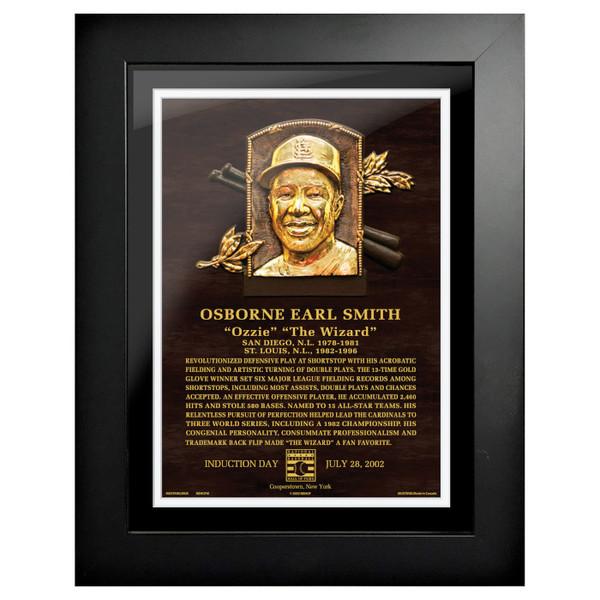 Ozzie Smith Baseball Hall of Fame 18 x 14 Framed Plaque Art