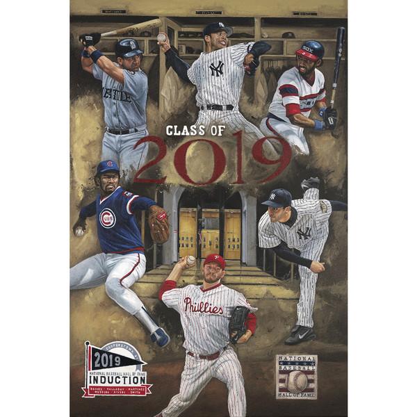 2019 Hall of Fame Induction Class Canvas 16 x 24 Giclee by Artist Justyn Farano Limited Edition of 100