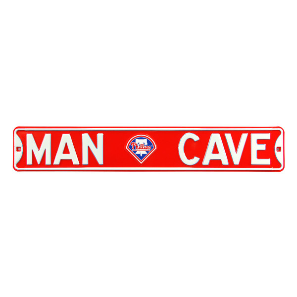Philadelphia Phillies Authentic Street Signs 6 x 36 Steel Man Cave Street Sign