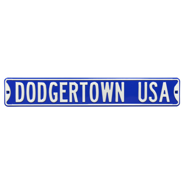Los Angeles Dodgers Dodgertown USA Authentic Street Signs 6 x 36 Steel Team Street Sign