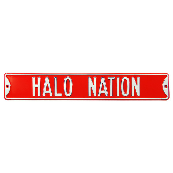 Los Angeles Angels Halo Nation Authentic Street Signs 6 x 36 Steel Team Street Sign