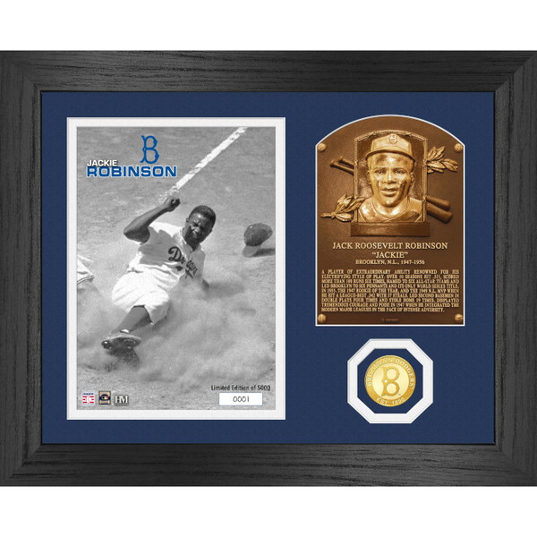 Highland Mint Jackie Robinson Hall of Fame Plaque Bronze Coin 13 x 16 Photo Mint