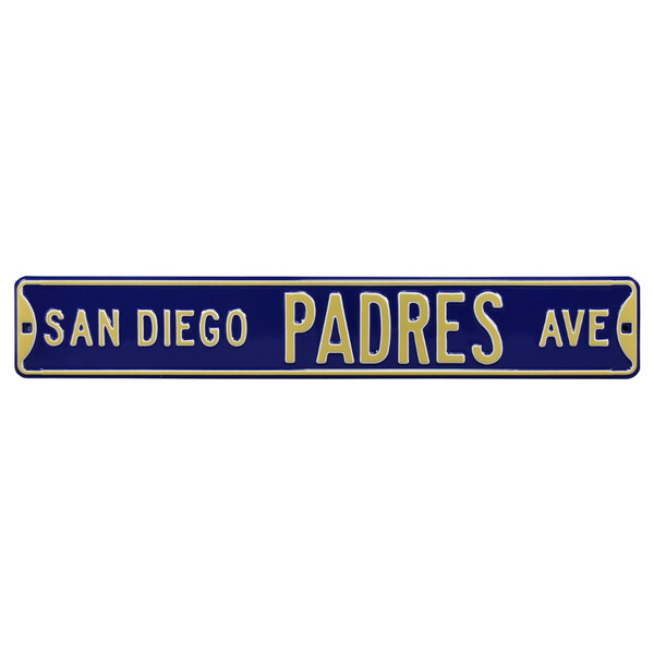 San Diego Padres Authentic Street Signs 6 x 36 Steel Team Street Sign