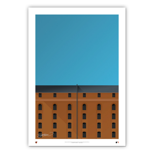 Camden Yards Minimalist Ballpark Collection 14 x 20 Fine Art Print by artist S. Preston