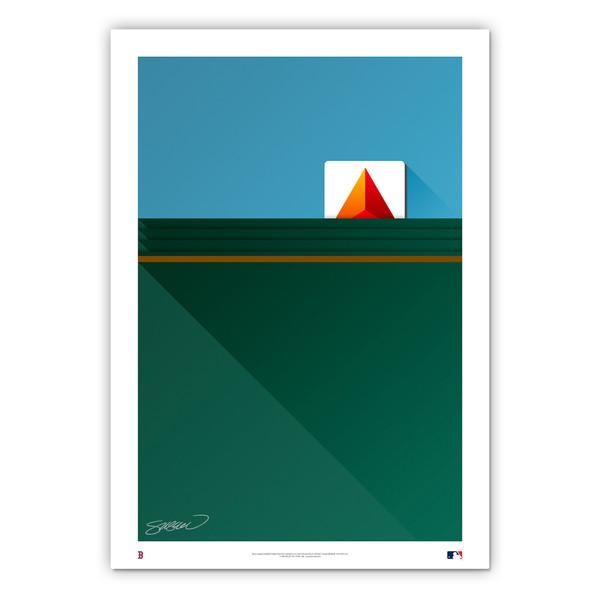 Fenway Park #1 Minimalist Ballpark Collection 14 x 20 Fine Art Print by artist S. Preston