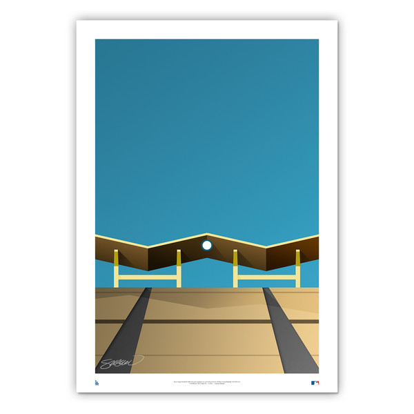 Dodger Stadium #1 Minimalist Ballpark Collection 14 x 20 Fine Art Print by artist S. Preston