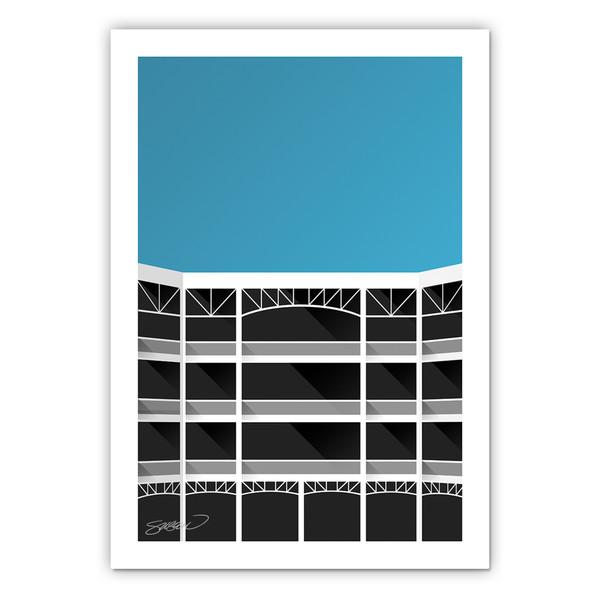 Rangers Ballpark Minimalist Ballpark Collection 14 x 20 Fine Art Print by artist S. Preston