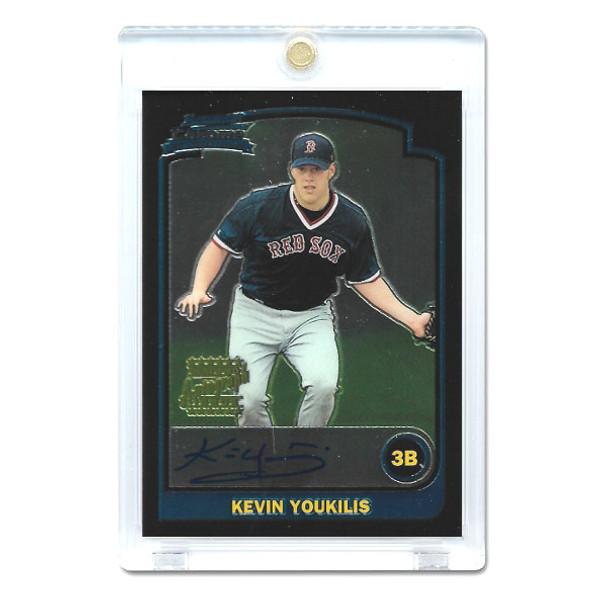 Kevin Youkilis Autographed Card 2003 Bowman Chrome # 336
