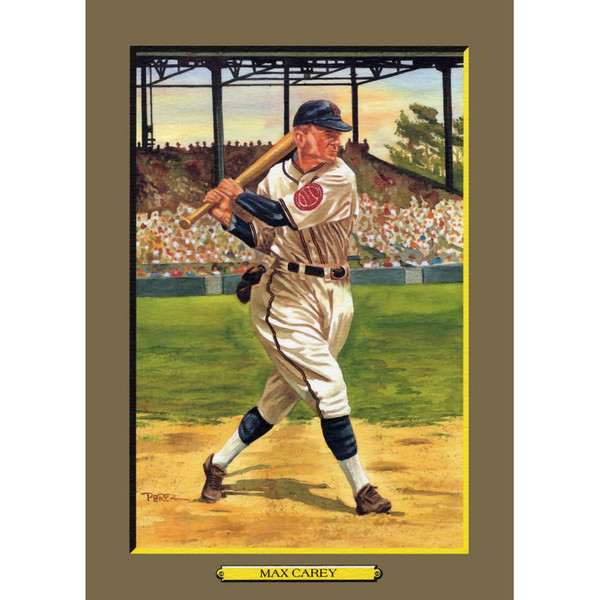 Max Carey Perez-Steele Hall of Fame Great Moments Limited Edition Jumbo Postcard # 50