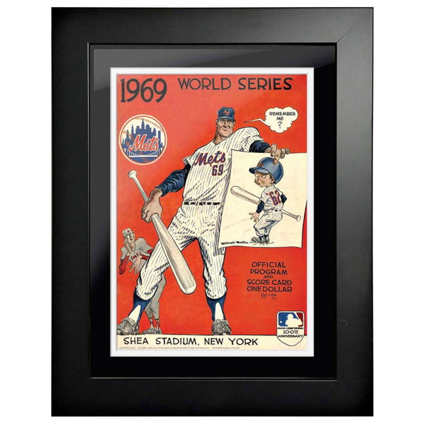 1969 World Series Program Cover 18 x 14 Framed Print