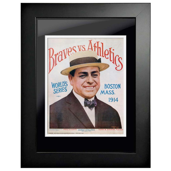 1914 World Series Program Cover 18 x 14 Framed Print