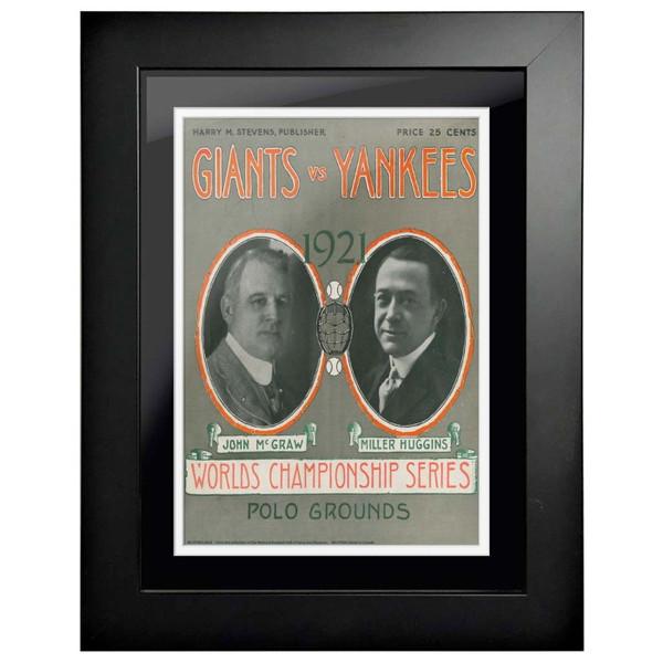 1921 World Series Program Cover 18 x 14 Framed Print