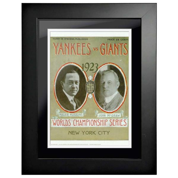 1923 World Series Program Cover 18 x 14 Framed Print