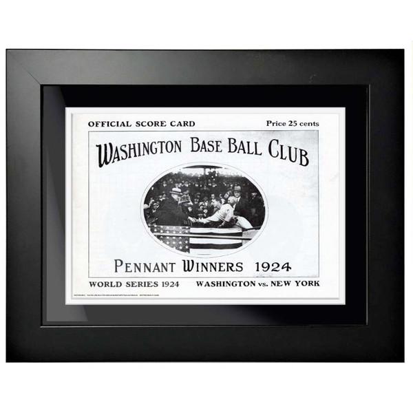 1924 World Series Program Cover 18 x 14 Framed Print