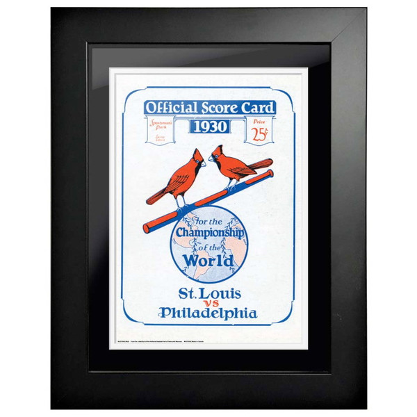 1930 World Series Program Cover 18 x 14 Framed Print