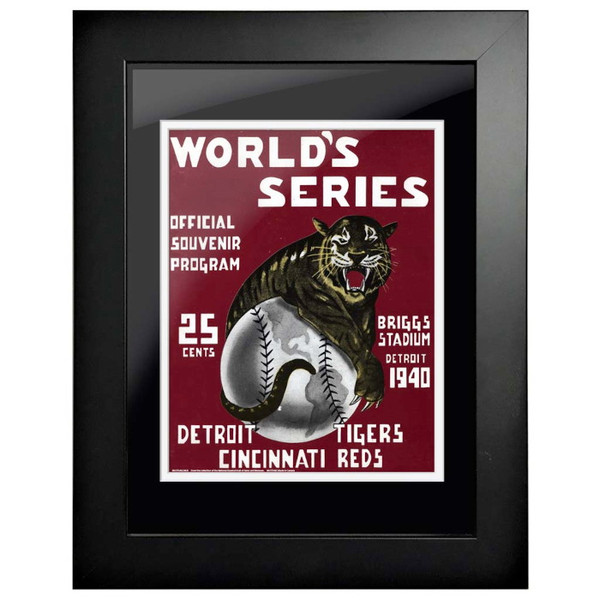 1940 World Series Program Cover 18 x 14 Framed Print