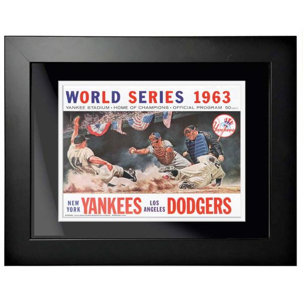 1963 World Series Program Cover 18 x 14 Framed Print #2
