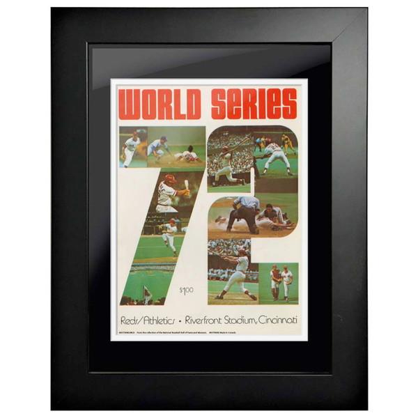 1972 World Series Program Cover 18 x 14 Framed Print #1