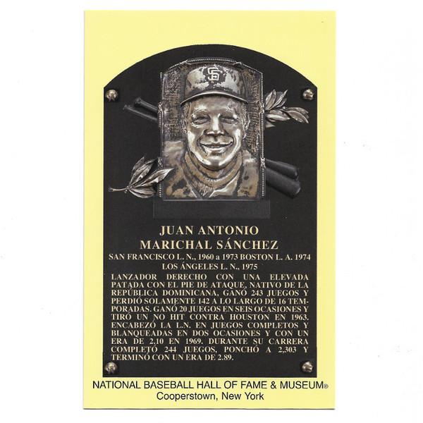 Juan Marichal Baseball Hall of Fame Plaque Postcard (Spanish)