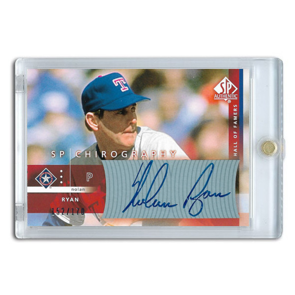 Nolan Ryan Autographed Card 2003 SP Authentic Chirography Lt Ed of 170
