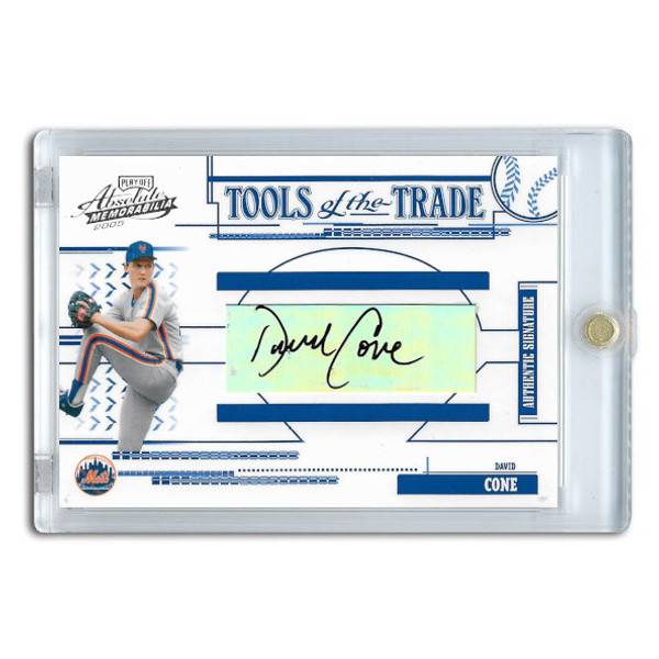 David Cone Autographed Card 2005 Playoff Absolute Tools of the Trade Ltd Ed of 75