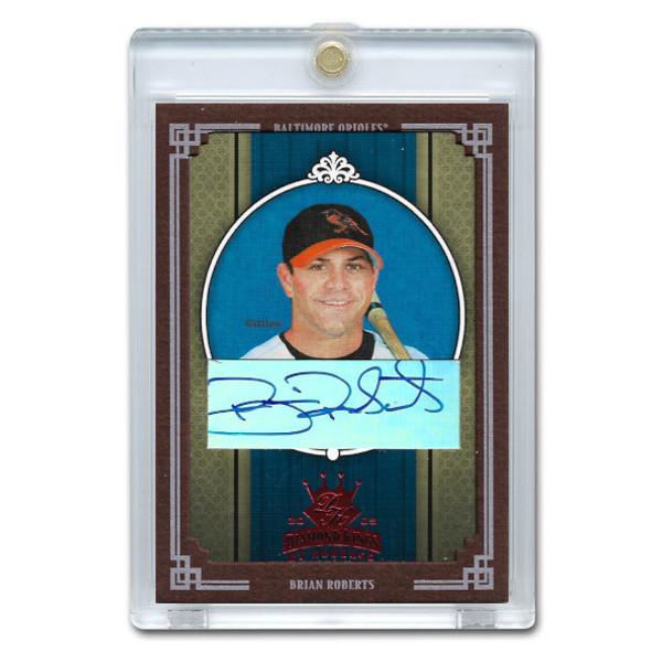 Brian Roberts Autographed Card 2002 Donruss Diamond Kings Crowning Moment Ltd Ed of 100