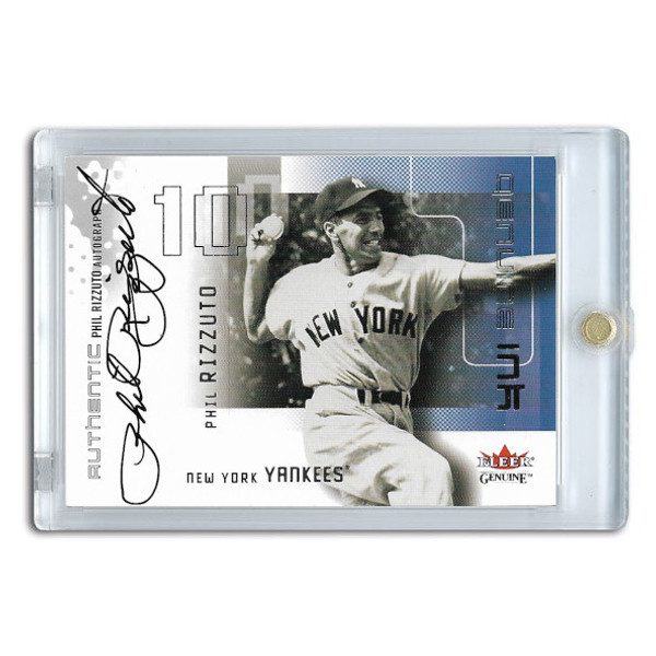 Phil Rizzuto Autographed Card 2002 Fleer Genuine Ink Ltd Ed of 700