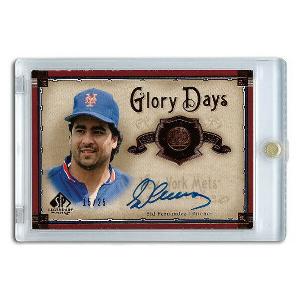 Sid Fernandez Autographed Card 2005 SP Legends Glory Days Ltd Ed of 25