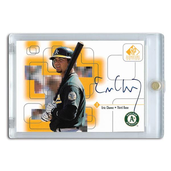 Eric Chavez Autographed Card 1999 SP Signature Series
