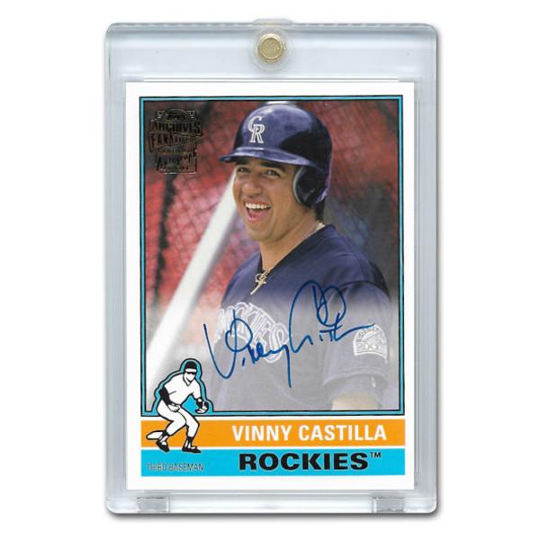 Vinny Castilla Autographed Card 2015 Topps Archives Franchise Favorites