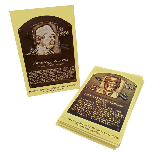 Umpires Baseball Hall of Fame Plaque Postcard Set (10)